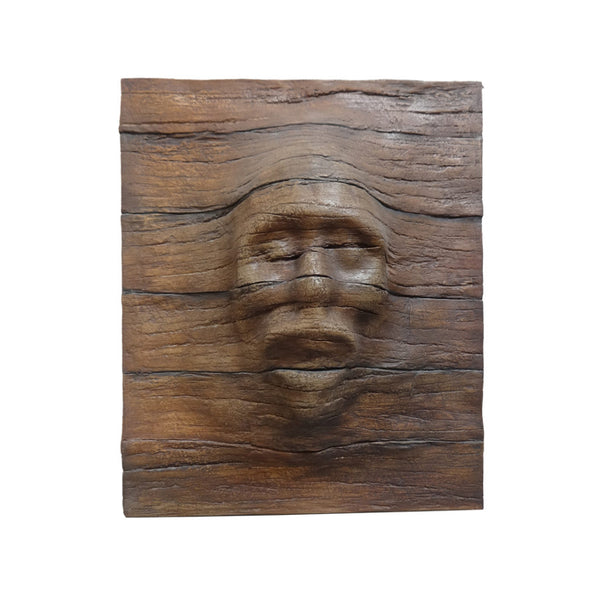 Wall Decor Wooden Eerie Face - LM Treasures Life Size Statues & Prop Rental