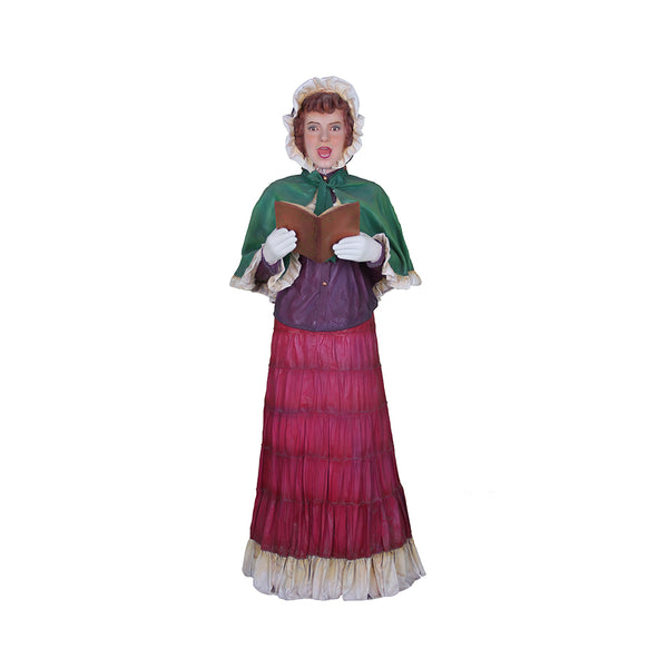 Caroler Mother With Book - LM Treasures Life Size Statues & Prop Rental