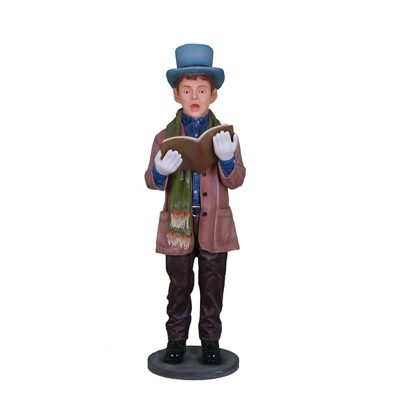 Caroler Son With Book - LM Treasures Life Size Statues & Prop Rental