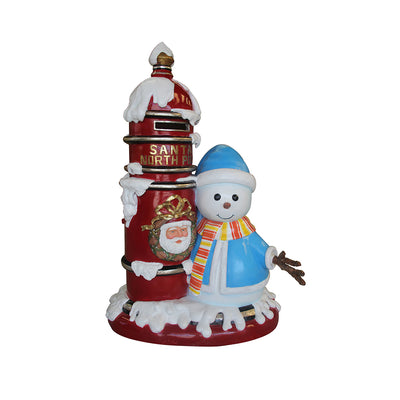 Mailbox North Pole With Snowman- LM Treasures