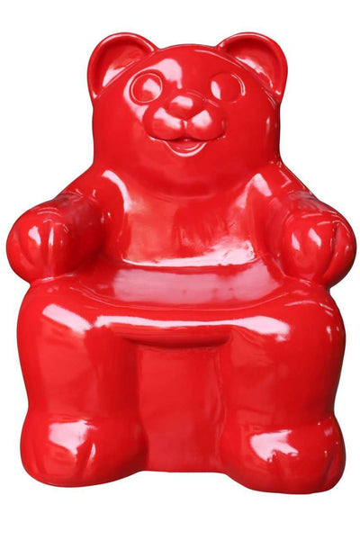 Red Gummy Bear Over Sized Statue - LM Treasures Life Size Statues & Prop Rental