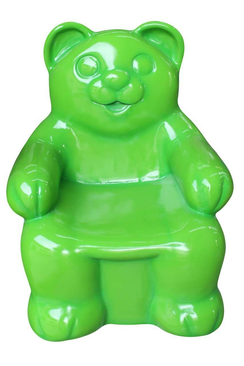 Gummy Bear Chair Green Candy Small Over sized Display Resin Prop Decor Statue