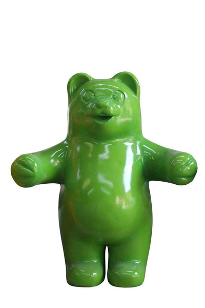 Large Green Gummy Bear Over Sized Statue - LM Treasures Life Size Statues & Prop Rental