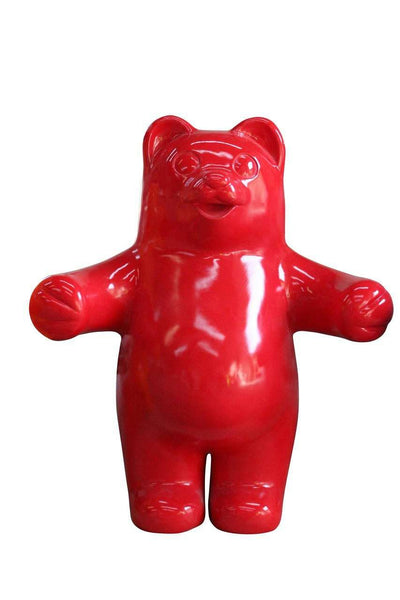 Large Red Gummy Bear Over Sized Statue - LM Treasures Life Size Statues & Prop Rental