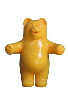 Candy Gummy Bear Yellow Over sized Display Resin Prop Decor Statue - LM Treasures Life Size Statues & Prop Rental