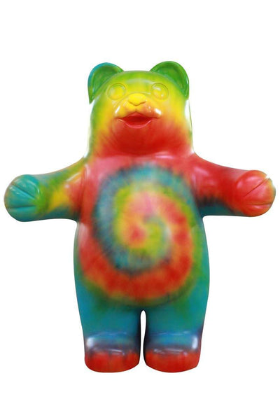Large Rainbow Gummy Bear Over Sized Statue - LM Treasures Life Size Statues & Prop Rental