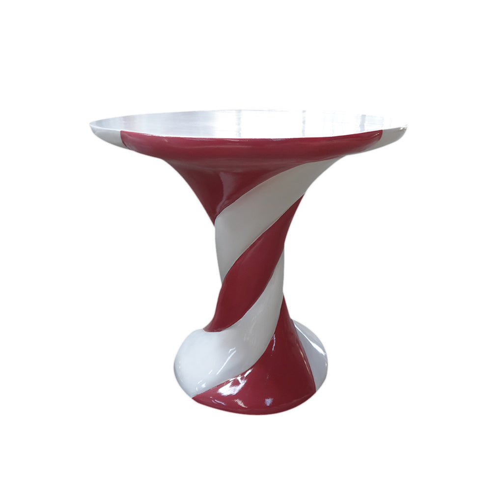 Marshmallow Table Red/White Over Sized Display Resin Prop Decor Statue - LM Treasures Life Size Statues & Prop Rental