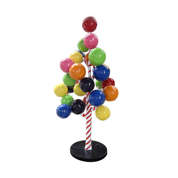 Rainbow Gumball Lollipop Candy Tree Over Sized Statue - LM Treasures Life Size Statues & Prop Rental