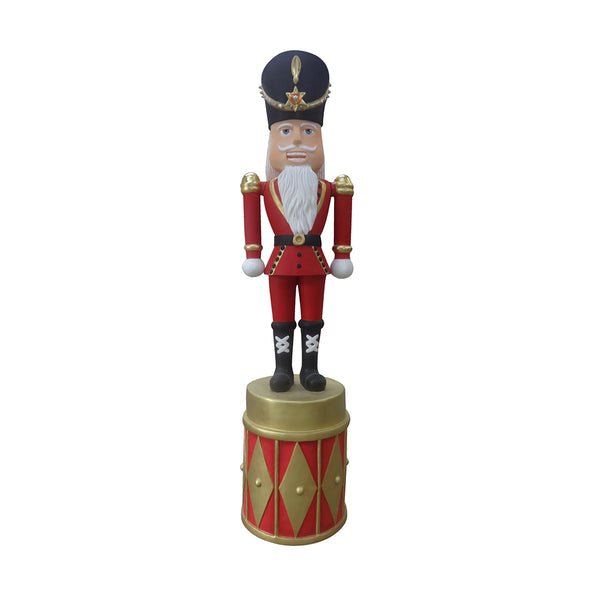 Nutcracker On Drum Base - LM Treasures Life Size Statues & Prop Rental