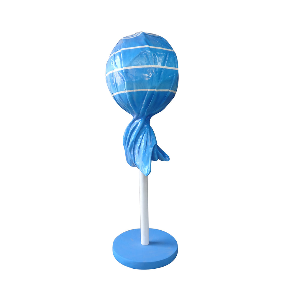 Candy Lollipop 5.5 ft Blue Giant Over Sized Resin Statue - LM Treasures Life Size Statues & Prop Rental