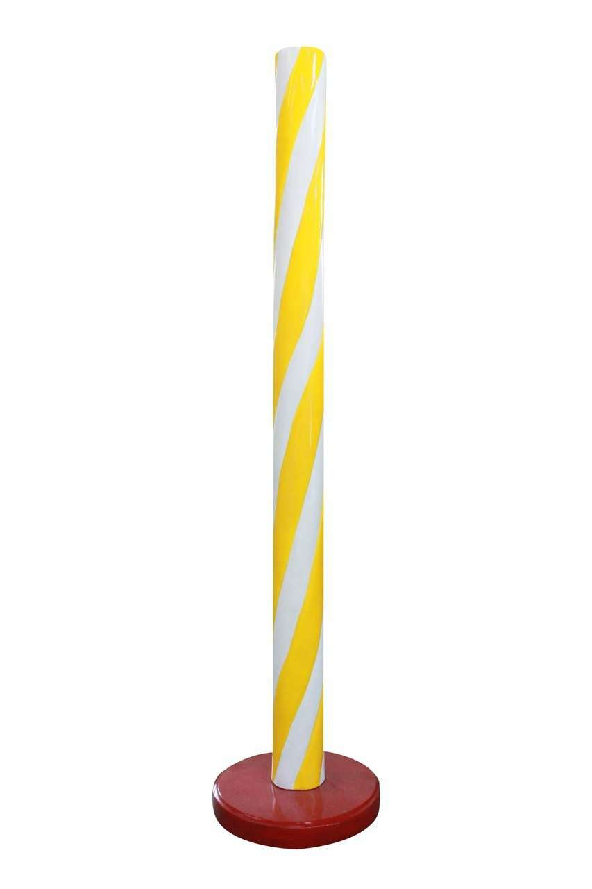 Candy Stick Yellow Jumbo Over Sized Prop Decor Statue - LM Treasures