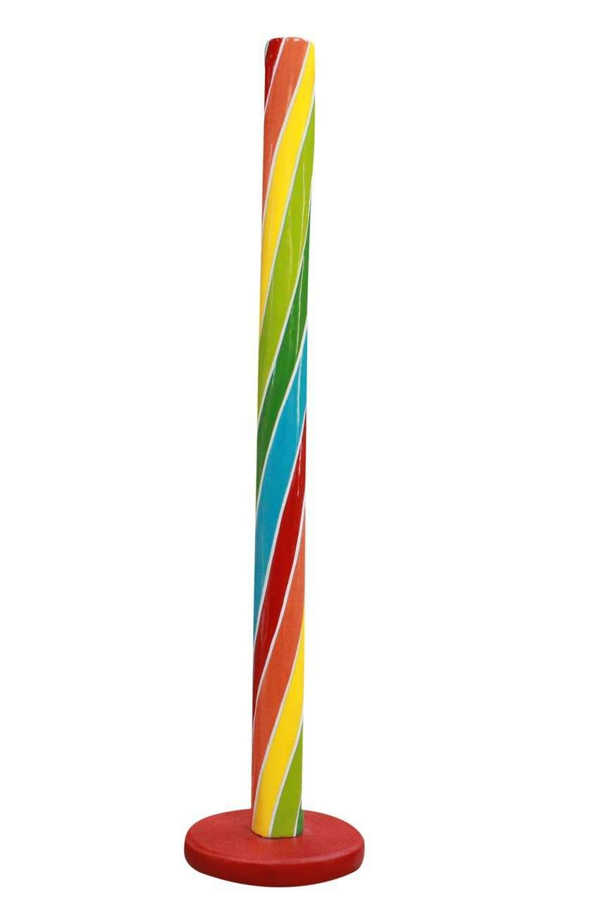 Rainbow Candy Stick Over Sized Statue - LM Treasures Life Size Statues & Prop Rental