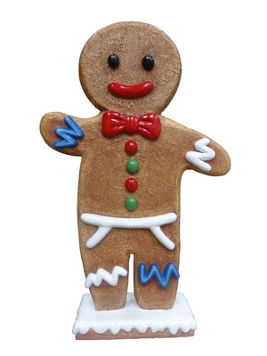 Gingerbread Papa Cookie Small Display Prop Decor Statue - LM Treasures Life Size Statues & Prop Rental