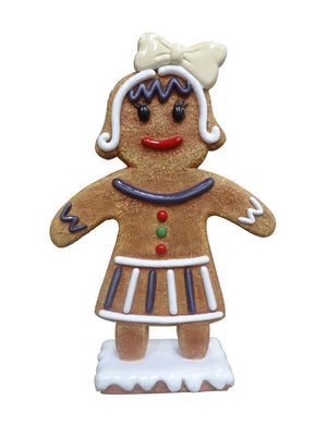Gingerbread Mama Cookie Small Display Prop Decor Statue - LM Treasures Life Size Statues & Prop Rental