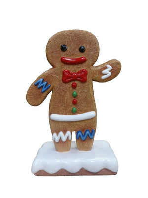 Gingerbread Boy Cookie #1 Small Display Prop Decor Statue - LM Treasures Life Size Statues & Prop Rental