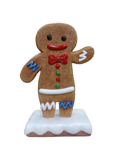 Small Boy Gingerbread Cookie Over Sized Statue - LM Treasures
