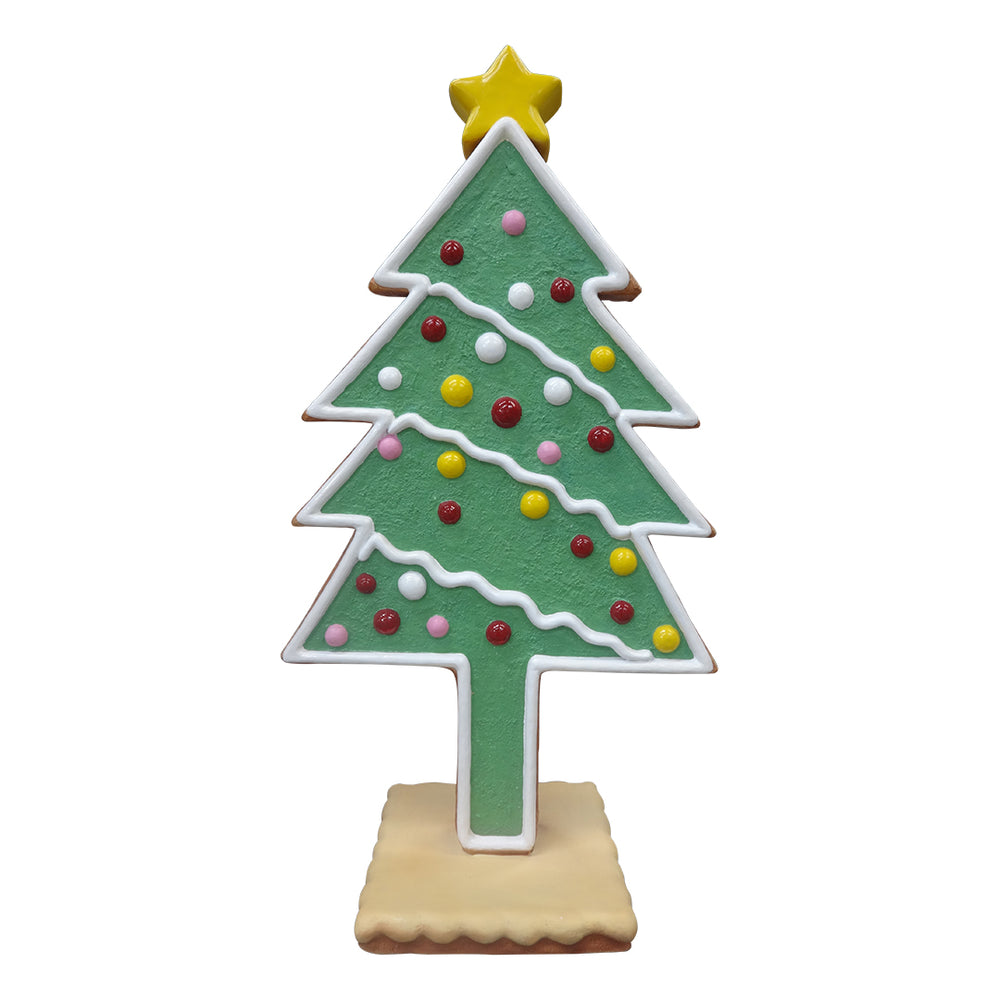 Gingerbread Mini Christmas Tree - LM Treasures Life Size Statues & Prop Rental
