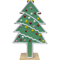 Christmas Tree Gingerbread Cookie Over Sized Statue - LM Treasures Life Size Statues & Prop Rental