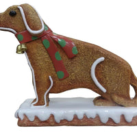 Small Dog Gingerbread Cookie Over Sized Statue - LM Treasures Life Size Statues & Prop Rental
