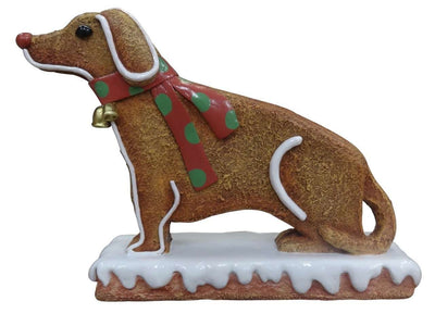 Gingerbread Dog Cookie Small Display Prop Decor Statue - LM Treasures Life Size Statues & Prop Rental