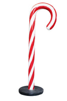 Small Traditional Peppermint Candy Cane Over Sized Statue - LM Treasures Life Size Statues & Prop Rental