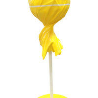 Candy Lollipop 5.5 ft Yellow Giant Over Sized Resin Statue - LM Treasures Life Size Statues & Prop Rental