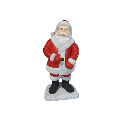 Santa Mini On Base - LM Treasures Life Size Statues & Prop Rental