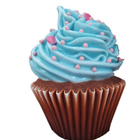 Blue Frosting Vanilla Cupcake Over Sized Statue - LM Treasures