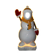 Photo Op Snowman Small (Light Up) - LM Treasures Life Size Statues & Prop Rental
