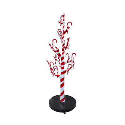 Candy Cane Tree With Minies - LM Treasures Life Size Statues & Prop Rental