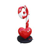 Candy Cane Swirl With Hearts - LM Treasures Life Size Statues & Prop Rental