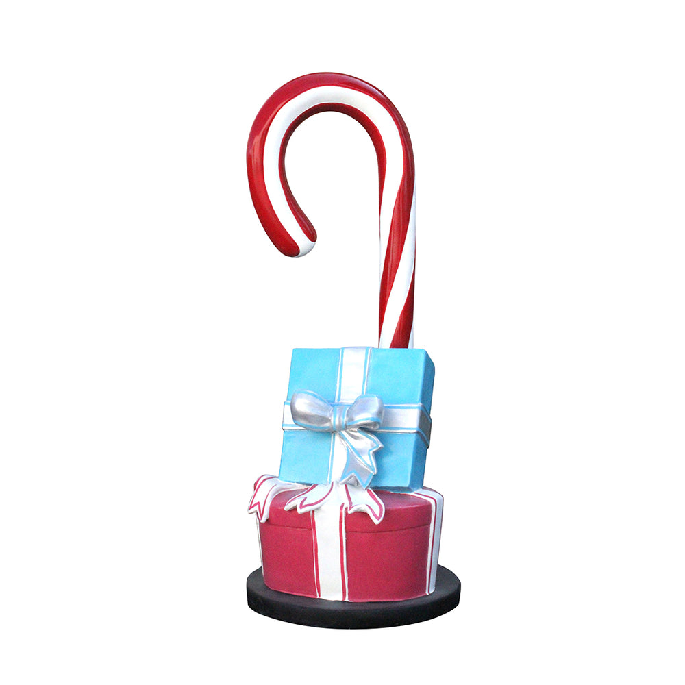Candy Cane Gift Box (2) - LM Treasures Life Size Statues & Prop Rental