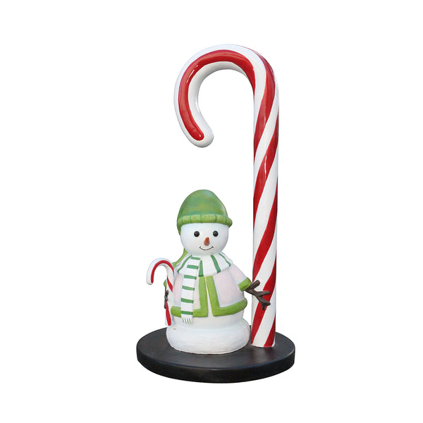 Candy Cane Snowman Mini - LM Treasures Life Size Statues & Prop Rental
