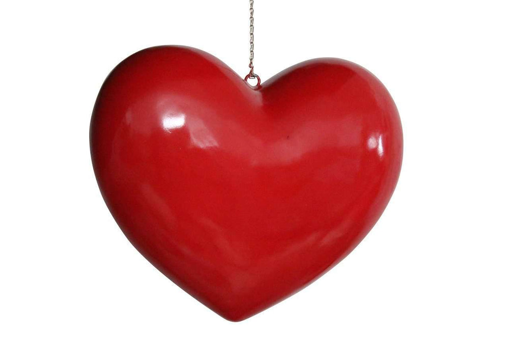 Heart Over sized Prop Decor Statue - LM Treasures Life Size Statues & Prop Rental