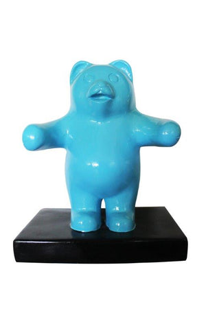 Candy Gummy Bear 1 ft Blue Over Sized  Statue - LM Treasures Life Size Statues & Prop Rental
