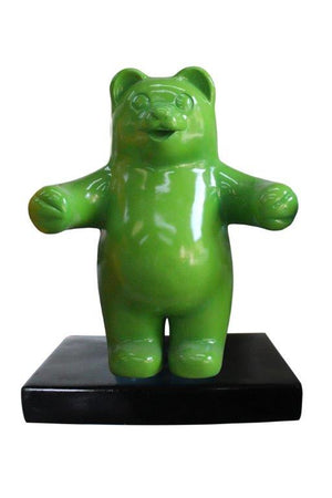 Candy Gummy Bear 1 ft Green Over Sized  Statue - LM Treasures Life Size Statues & Prop Rental