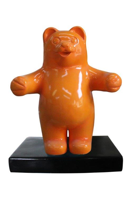Candy Gummy Bear 1 ft Orange Over Sized  Statue - LM Treasures Life Size Statues & Prop Rental
