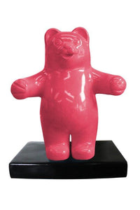 Small Pink Gummy Bear Over Sized Statue - LM Treasures