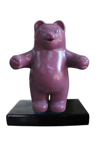 Small Purple Gummy Bear Over Sized Statue - LM Treasures