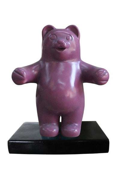 Small Purple Gummy Bear Over Sized Statue - LM Treasures Life Size Statues & Prop Rental