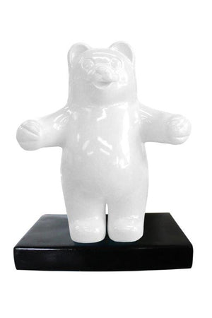 Candy Gummy Bear 1 ft White Over Sized  Statue - LM Treasures Life Size Statues & Prop Rental