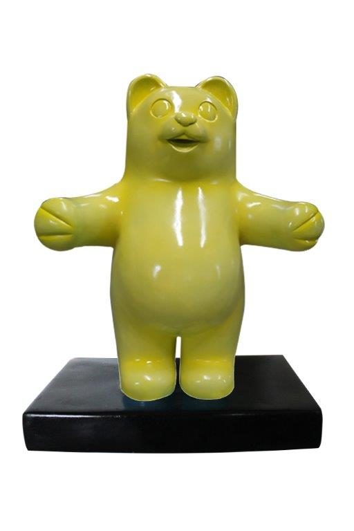Candy Gummy Bear 1 ft Yellow Over Sized  Statue - LM Treasures Life Size Statues & Prop Rental
