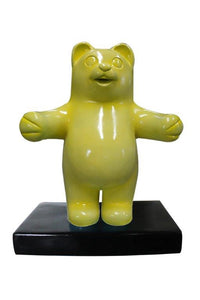 Small Yellow Gummy Bear Over Sized Statue - LM Treasures