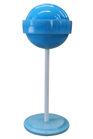 Candy Sugar Pop Mini Blue Over Sized Statue - LM Treasures Life Size Statues & Prop Rental