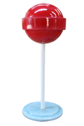 Candy Mini Lollipop Sugar Pop Red Over sized Display Resin Prop Decor Statue - LM Treasures Life Size Statues & Prop Rental