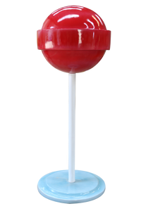 Red Sugar Pop Over Sized Statue - LM Treasures Life Size Statues & Prop Rental