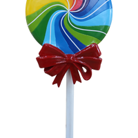Candy Lollipop Swirl Rainbow Over Sized Statue - LM Treasures Life Size Statues & Prop Rental