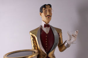 Butler Frenchman Life Size Restaurant Prop Decor Statue - LM Treasures