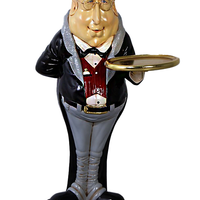 Fat Butler Small Statue - LM Treasures Life Size Statues & Prop Rental