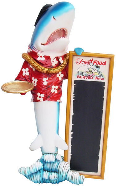 Large Shark Butler Life Size Statue - LM Treasures